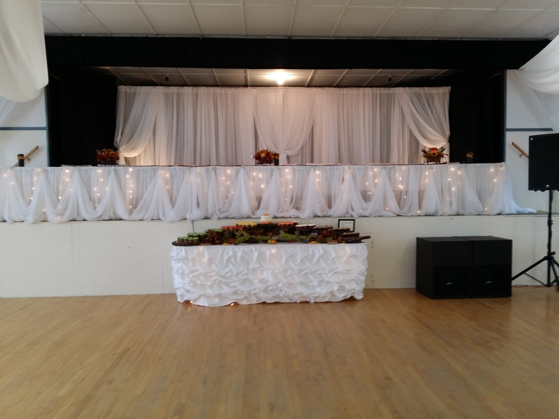Head table on stage